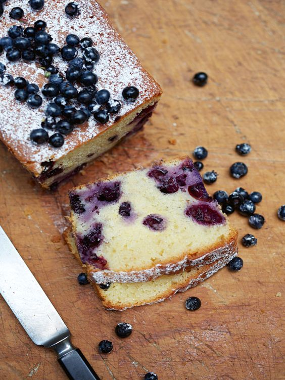 blueberry and yoghurt loaf. For when our blueberry bushes are so prolific that we just don't know what to do with ourselves. And before that too.