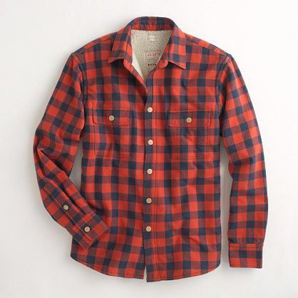 Mens Lined Flannel Shirt Jacket | Outdoor Jacket