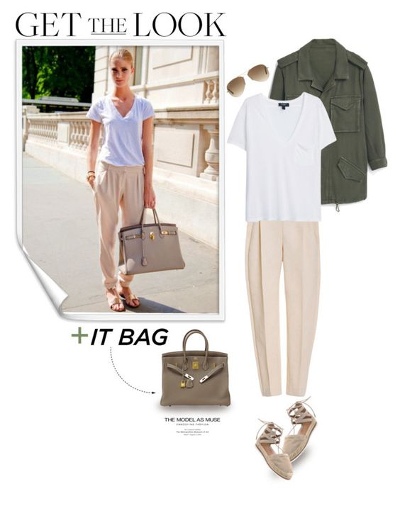 """""""Get The Look w/ BagHunter!!"""" by makingastatement ❤ liked on Polyvore featuring MANGO, Delpozo, Aquazzura and Ray-Ban"""