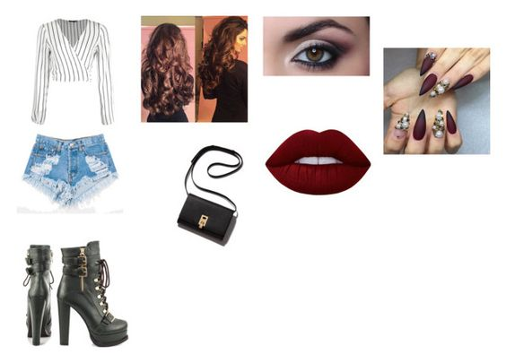"""""""night out"""" by aisha-lunkins on Polyvore featuring Levi's, Luichiny and Lime Crime"""