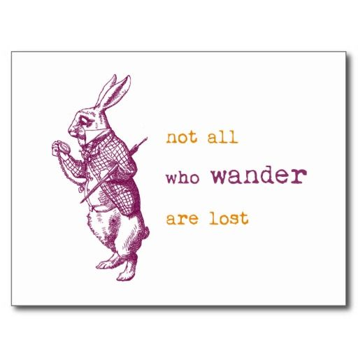 alice in wonderland quotes | White Rabbit, Alice in Wonderland Postcards from Zazzle.com