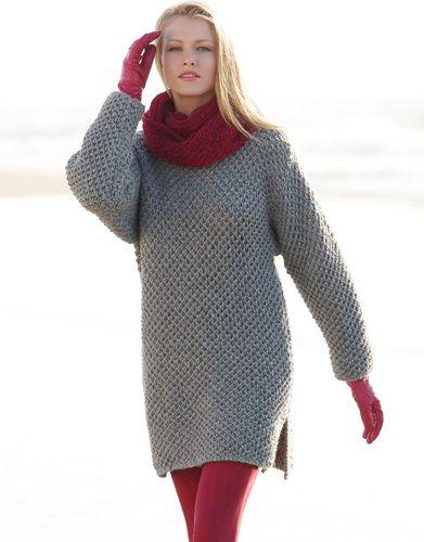 Revista mujer Básicos 7 Otoño / Invierno   31: Mujer Vestido   Gris medio PERU KATIA