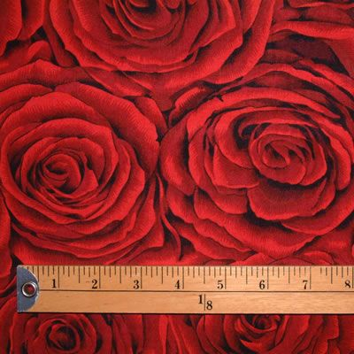 FF 'A Red Rose' Dark Red L 1/2 METRE - view 3