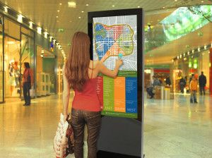 touch screen advertising display