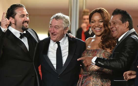 Jonathan Jakubowicz, Robert de Niro, Grace Hightower et Roberto Duran - Hands of Stone