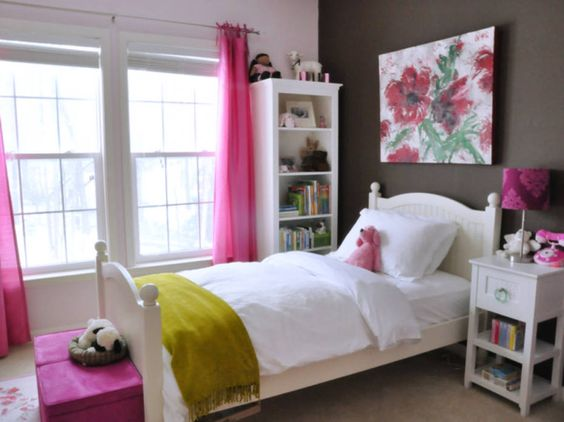 Modern Home Interior Bedroom For Teenage Girl Design Ideas With Contemporary White Hardwood Bedframe Connected Fascinating Arched High Headboard Including Padded Mattress As Well As Girl Teenage Bedroom Ideas  Plus Small Girls Bedrooms , Captivating Bedroom Decorating Ideas For Awesome Teenage Girls Design: Bedroom, Interior