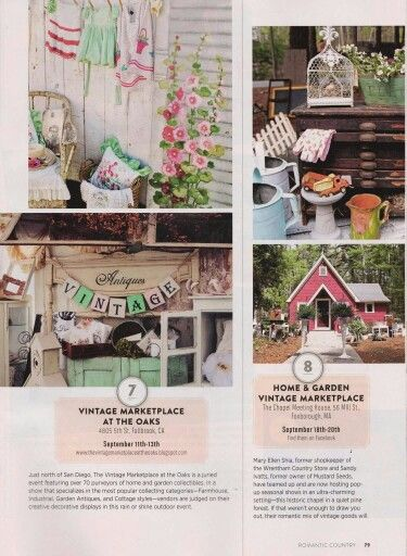 Fall 2015 romantic country magazine featured the for Country cottage magazine