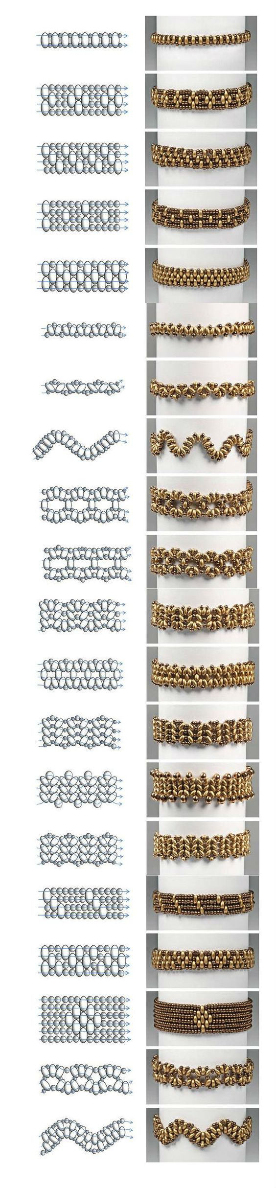 Preciosa Projects - Twin Bracelets  Easy and Simple Pattern featured in Bead-Patterns.com Newsletter!