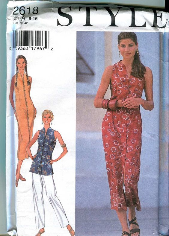 Style 2618 Long Skinny Dress or Tunic with pants by bellaloona, $5.00