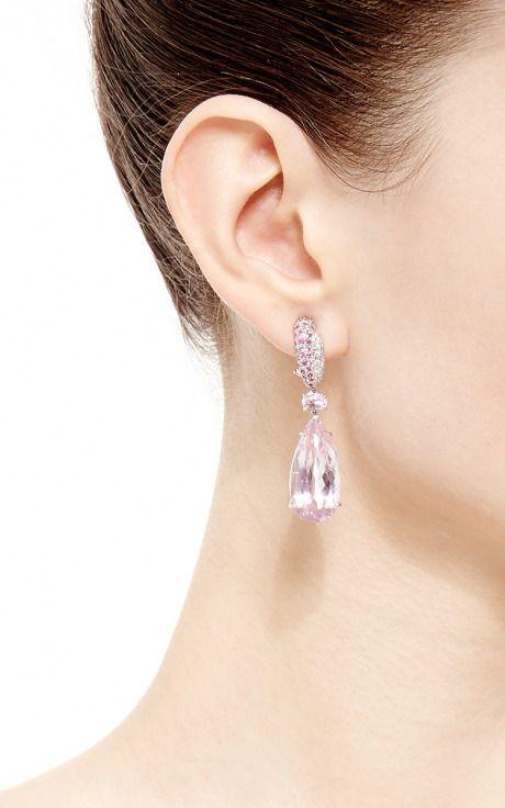 Kunzite Drop Earrings by Gioia for Preorder on Moda Operandi