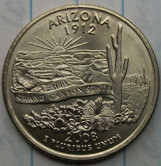 Arizona Statehood Error Quarters   To date I have found several different errors or varieties in the Arizona Statehood Quarters. Three are in the same category. They have to do with extra cactus leaves in the lower area of the coin by the designers...