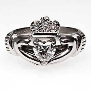 claddagh wedding ring sets claddagh engagement ring wedding set 2973