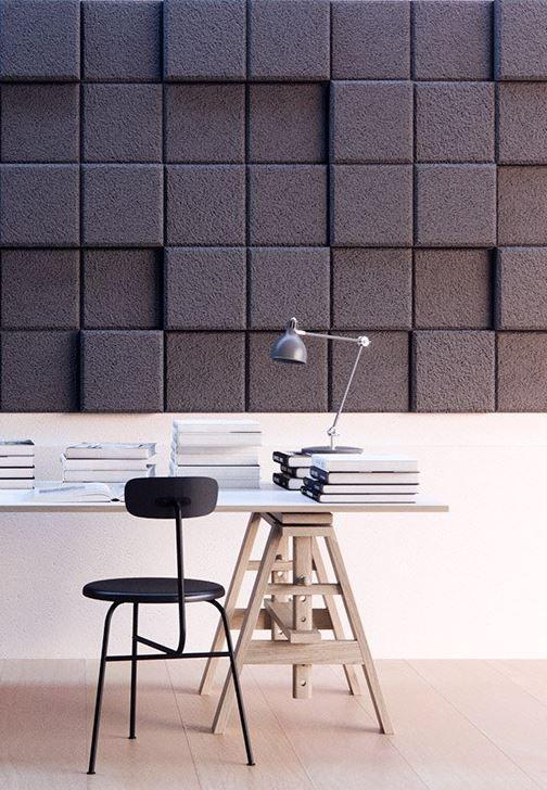 Acoustic Wood Wool Panels BAUX 3D PIXEL - @bauxdesign