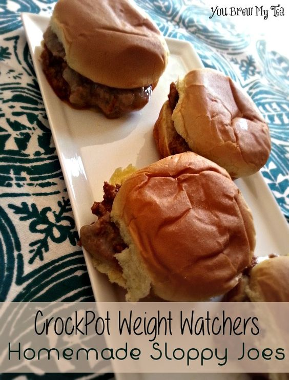 CrockPot Weight Watchers Homemade Sloppy Joes Only 4 Points!