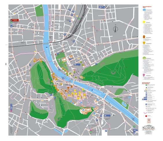 Tourist Map Salzburg Austria Travel Pinterest Tourist Map - Germany map salzburg