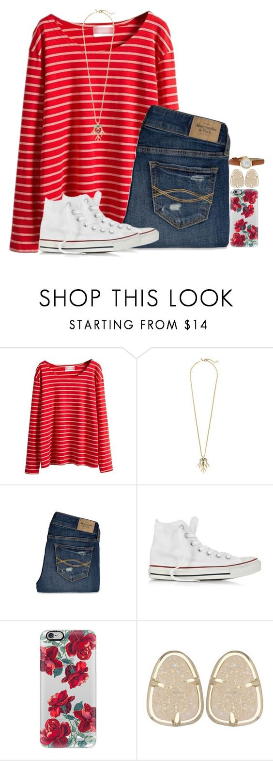 """I Don't Know How To Be Something You Miss"" by hailstails ❤ liked on Polyvore featuring J.Crew, Abercrombie & Fitch, Converse, Casetify, Kendra Scott and Kate Spade"