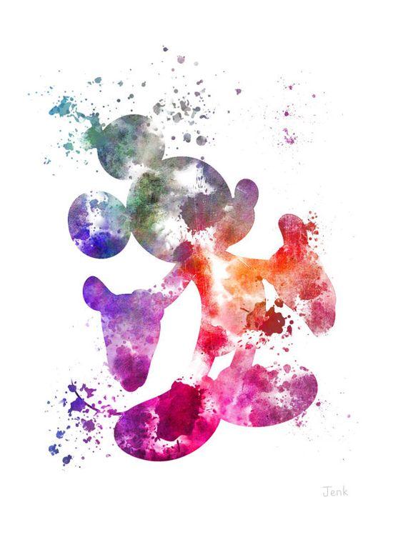 Illustration PRINT ART de souris de Mickey Disney par SubjectArt