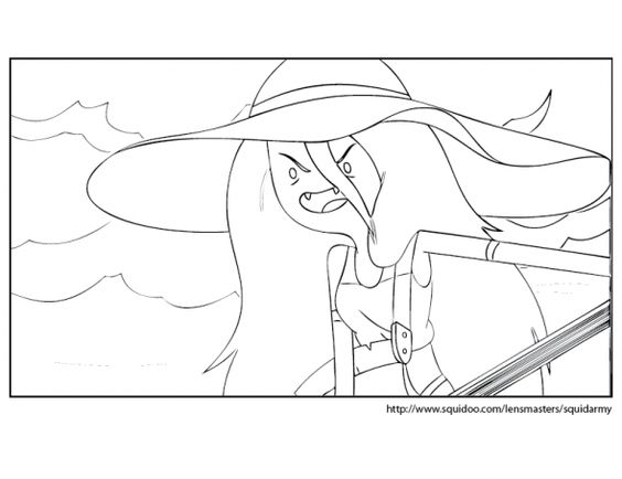Adventure Time coloring pages Marceline Coloring pages