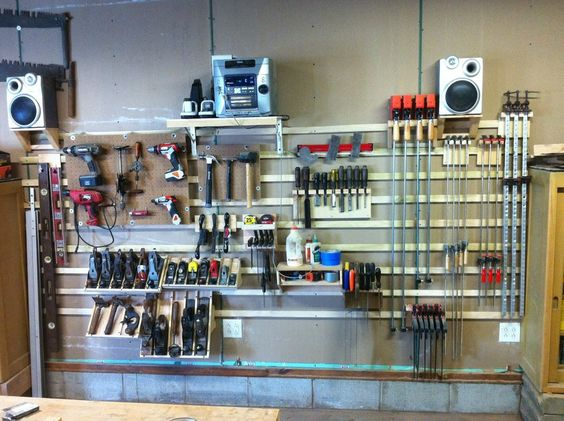 french cleat wall - by bent @ LumberJocks.com ~ woodworking community