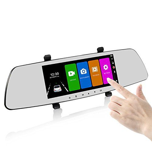 Black Dashcam R/ückspiegel Dashcam Monitor Autokamera 7 Zoll IPS Touchsreen Spiegel DashCam mit 170 Weitwinkel,Bewegungserkennung,Parkmonitor,Loop-Aufnahme