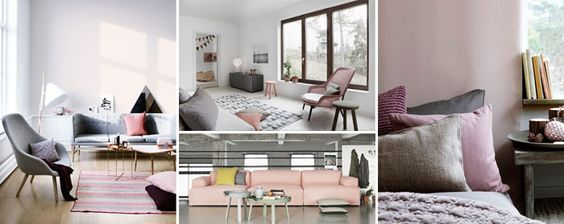 Pink and grey combinations