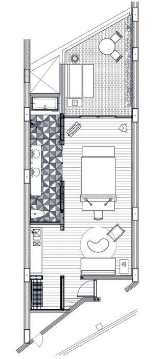 Katamama Hotel Seminyak Poolview Suite 82 Sqm Hotel Room Design Hotel Room Plan Hotel Room Design Plan