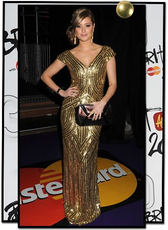 Holly Valance in Alexander McQueen