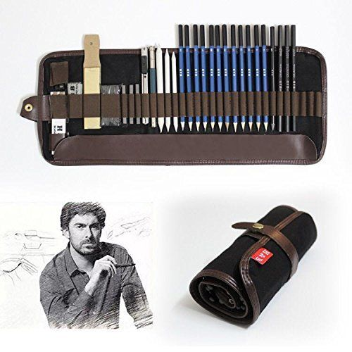 29Pcs Professional Sketching Drawing Supplies Pencil Art Kit Tools Student Learn
