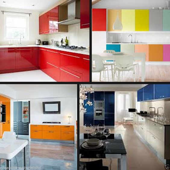 Details about 610 x 5 m 24 gloss self adhesive kitchen for Kitchen design 5m x 5m