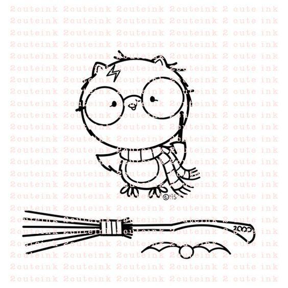 Harry PotterOwl und Zubehör digitalen StempelSet von 2CuteInk