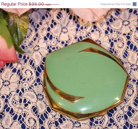 Hey, I found this really awesome Etsy listing at http://www.etsy.com/listing/93363453/on-sale-vintage-jade-green-enamel-and