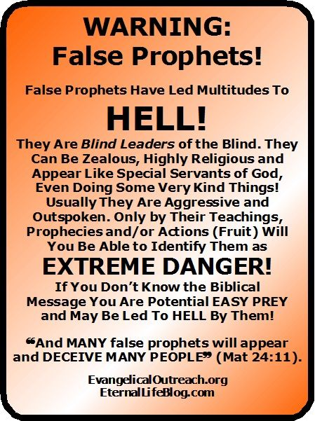 false prophets false teachers
