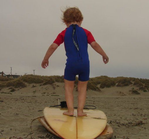 Surferboy in training