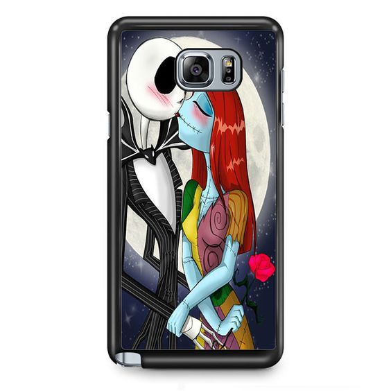 Jack And Sally Nightmare Before Christmas TATUM-5727 Samsung Phonecase Cover Samsung Galaxy Note 2 Note 3 Note 4 Note 5 Note Edge