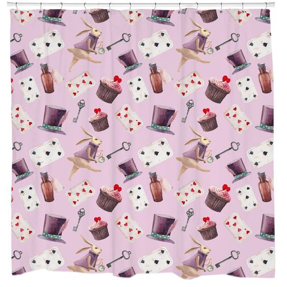 Curtains Ideas alice in wonderland curtains : Hugs & Kisses Shower Curtain | Products, Curtains and Shower curtains