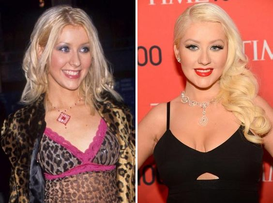 Christina Aguilera Plastic Surgery - Boob Job Before & After - http://plasticsurgerytalks.com/christina-aguilera-plastic-surgery/