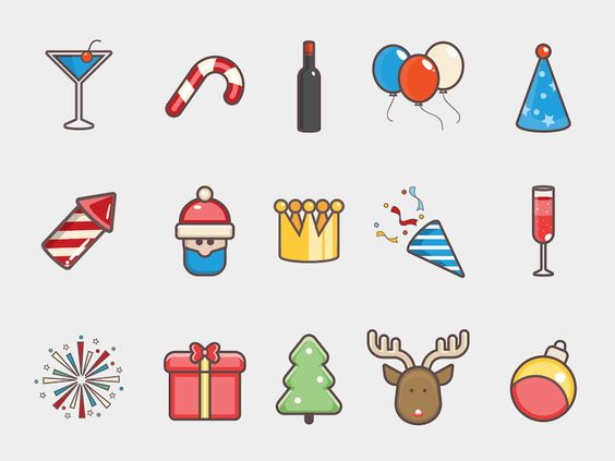 15 Christmas Icons Sketch Freebie Download Free Resource For
