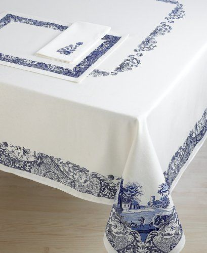 Spode Blue Italian Tablecloth 70 Quot Round By Spode Spode