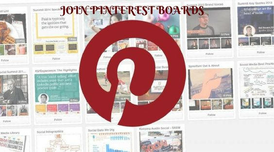 join Pinterest boards