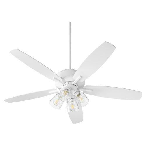 Quorum International Breeze Studio White Four Light 52 Inch Ceiling Fan 7052 408 Bellacor In 2020 Ceiling Fan 52 Inch Ceiling Fan Seeded Glass