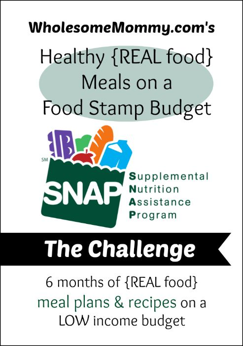 Oh Snap! REAL food on a Food Stamp Budget; Week One Check In - How to buy REAL food groceries on a $100 a week budget PLUS recipes to all the meals  From http://wholesomemommy.com