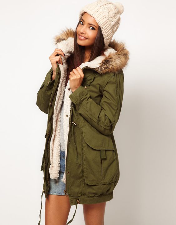 ASOS Fur Hooded Detachable Lined Parka | Fall wardrobe   winter
