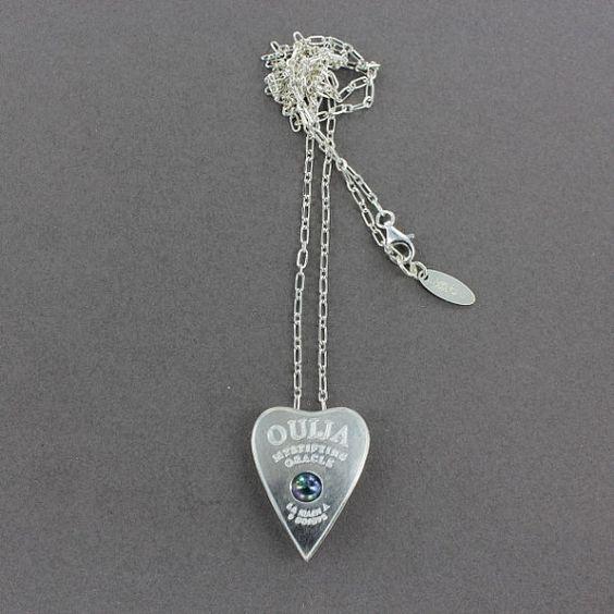 Ouija necklace planchette necklace titanium quartz and by lm6d