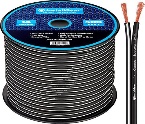 Installgear 14 Gauge Awg 500ft Speaker Wire Cable Black Car Audio Amplifier Audio Amplifier Cool Car Accessories