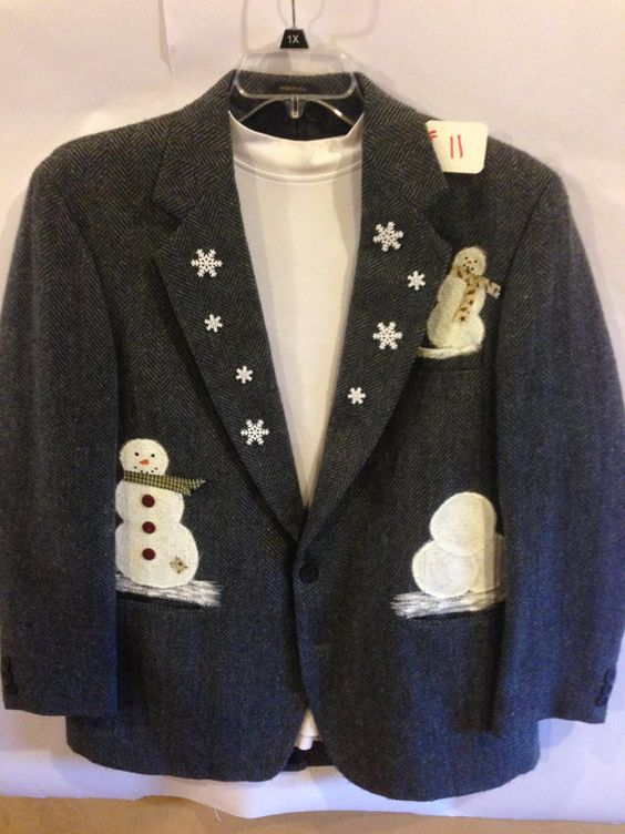 Womens snowman winter holiday seasonal blazer/ by TandLcrafts