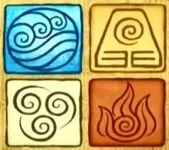 Los cuatro elementos: agua, tierra, aire y fuego.