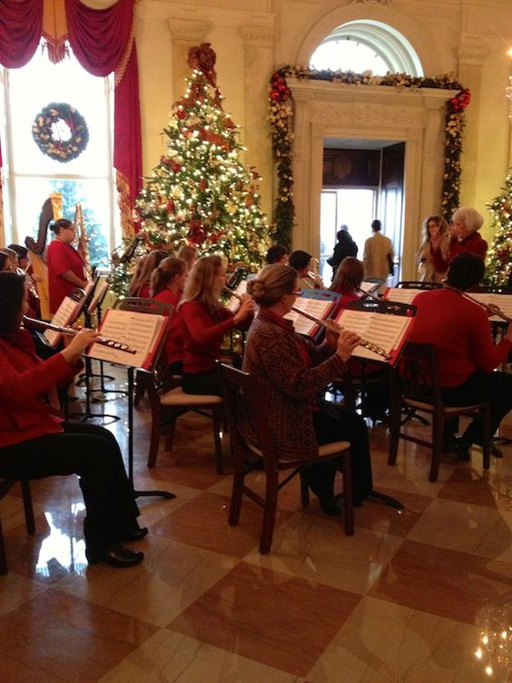 The live music inside @The White House during the holidays is