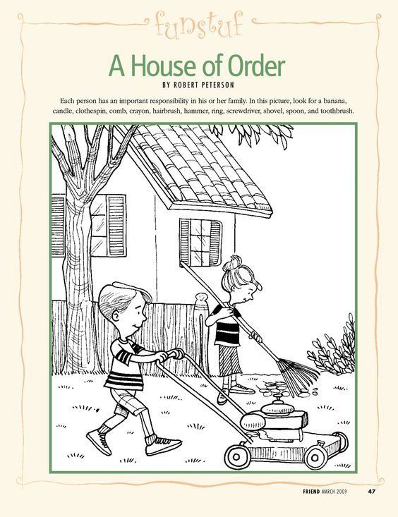 LDS Primary Coloring Pages | family responsibility | LDS Lesson ...