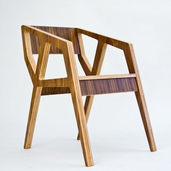 I think this chair shows a real understanding of the material - shipped flat. 100% good old plywood. Remarkably, on etsy $400