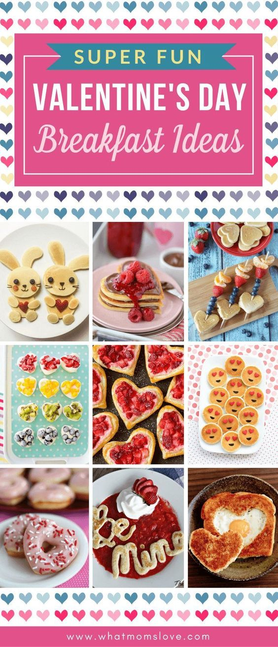Valentines Day Breakfast Ideas for Kids | Fun food recipes to make for your family including cute pancakes, waffles and healthy options too! Serve in bed or at the table (make sure you have some cookie cutters handy!)